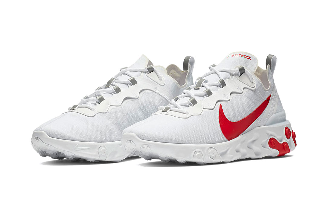 afijo calidad Contratar  Nike React Element 55 in White/Red/Blue | HYPEBEAST DROPS
