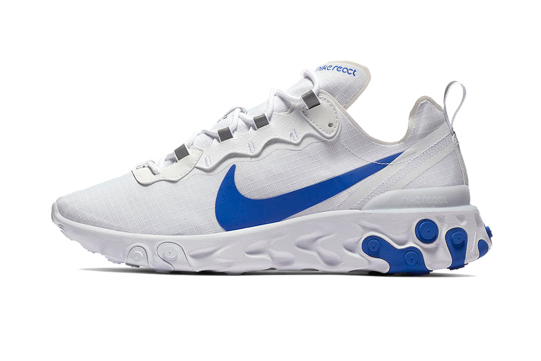 finest selection 54e7e 4302a Nike React Element 55 in White Red Blue   HYPEBEAST DROPS