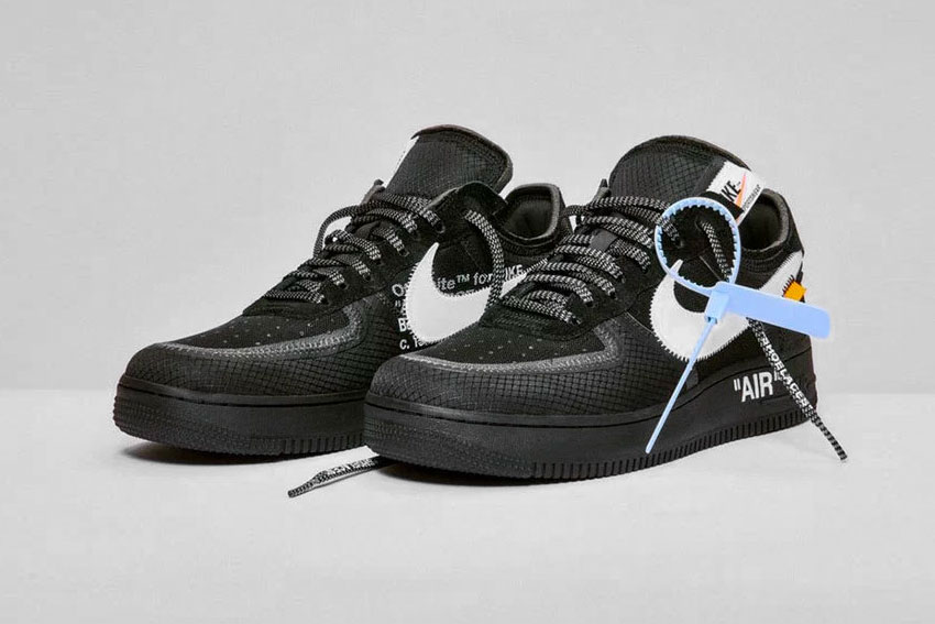 "premium selection 3e779 1edfa Off-White x Nike AF1 ""Black""   ""Volt"""