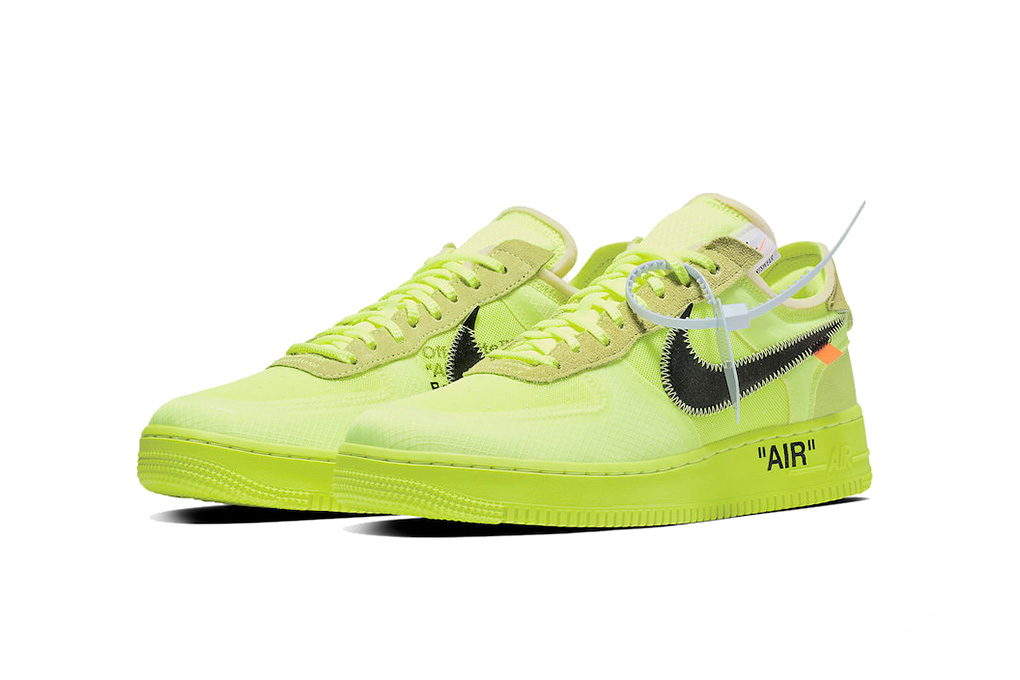 lime green and grey air force ones