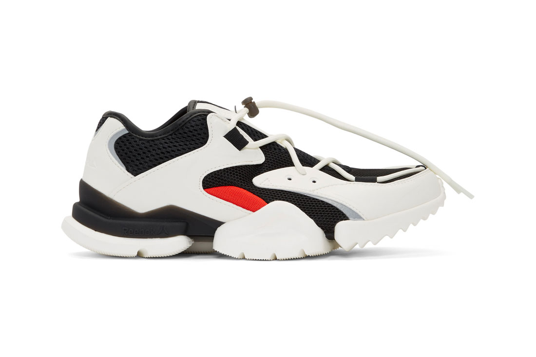 Reebok Run.r 96 White/Black/Red Colorway Release price info available now ssense purchase buy online sneaker luxury