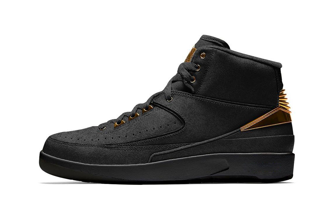 "Air Jordan 2 BHM ""Black/Metallic Gold"" Release date info price sneaker black history month february 2019 size Jordan Brand"