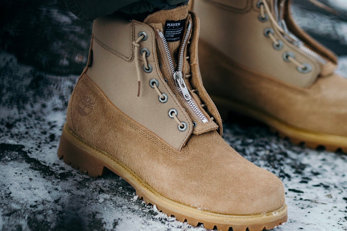 HAVEN Timberland GORE-TEX 6-Inch Boots cordura lining padded collar military speed-lacing system release info stockist pricing drop date