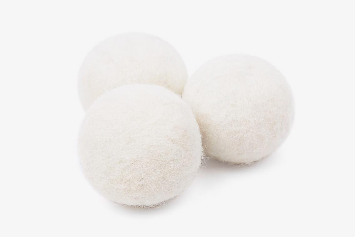 JJJJound Garment Dryer Ball Details Fashion Clothing Available Now Online Webstore Web Store Reduce Drying Time Static Wrinkles 50% Percent white light grey buy laundry