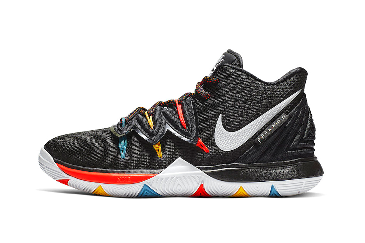 Latest Nike Kyrie 5 Gets Inspirations From 'Friends' sneakers release drop date price images black teal yellow orange footwear basketball
