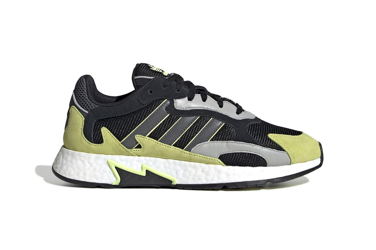 adidas Originals Details New TRESC Run With Faded Yellow Accents black grey release drop date info images price footwear