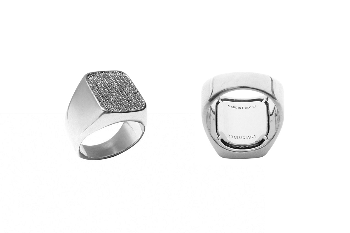 Balenciaga Watch Ring Strass Release info Bedazzled Crystal Rhinestone Diamond Silver Spring 2019