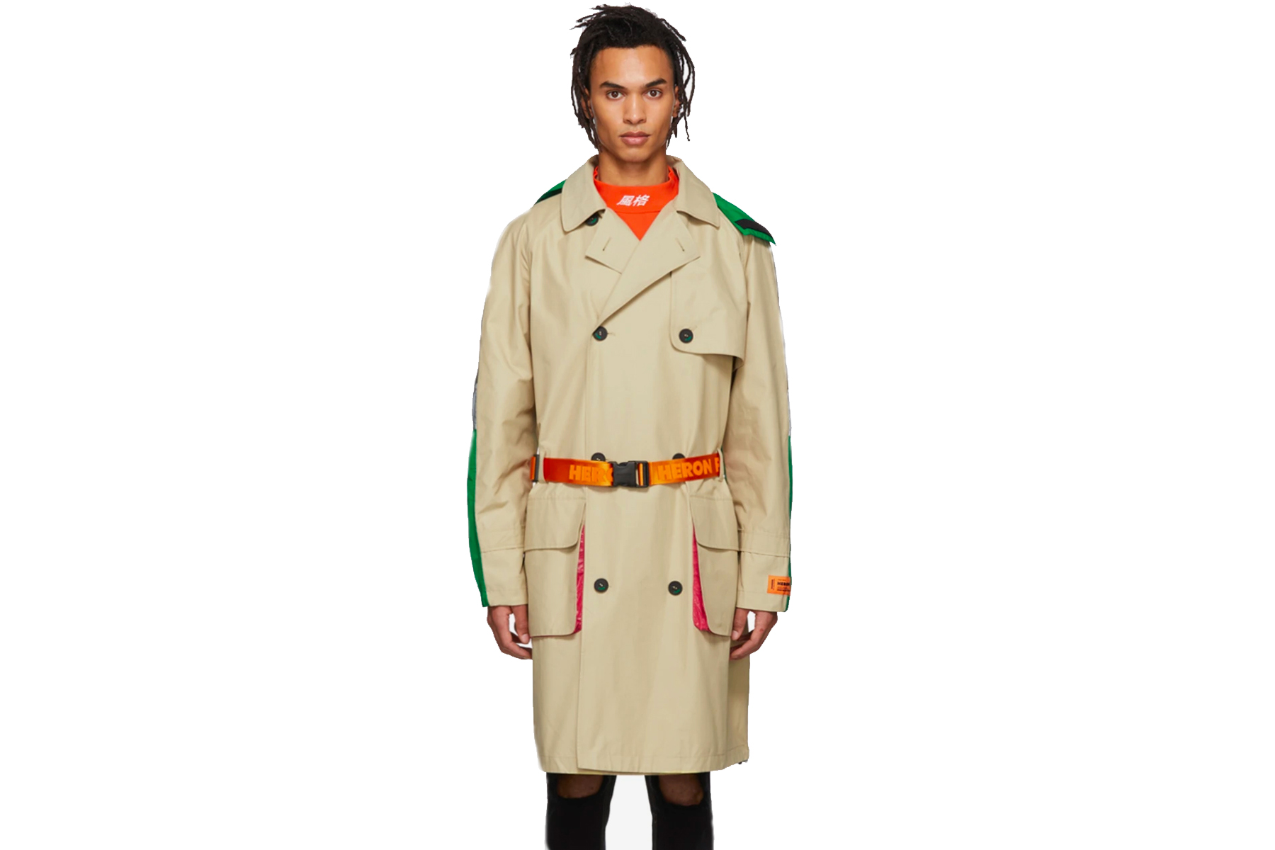 Heron Preston Multicolor Trench Coat
