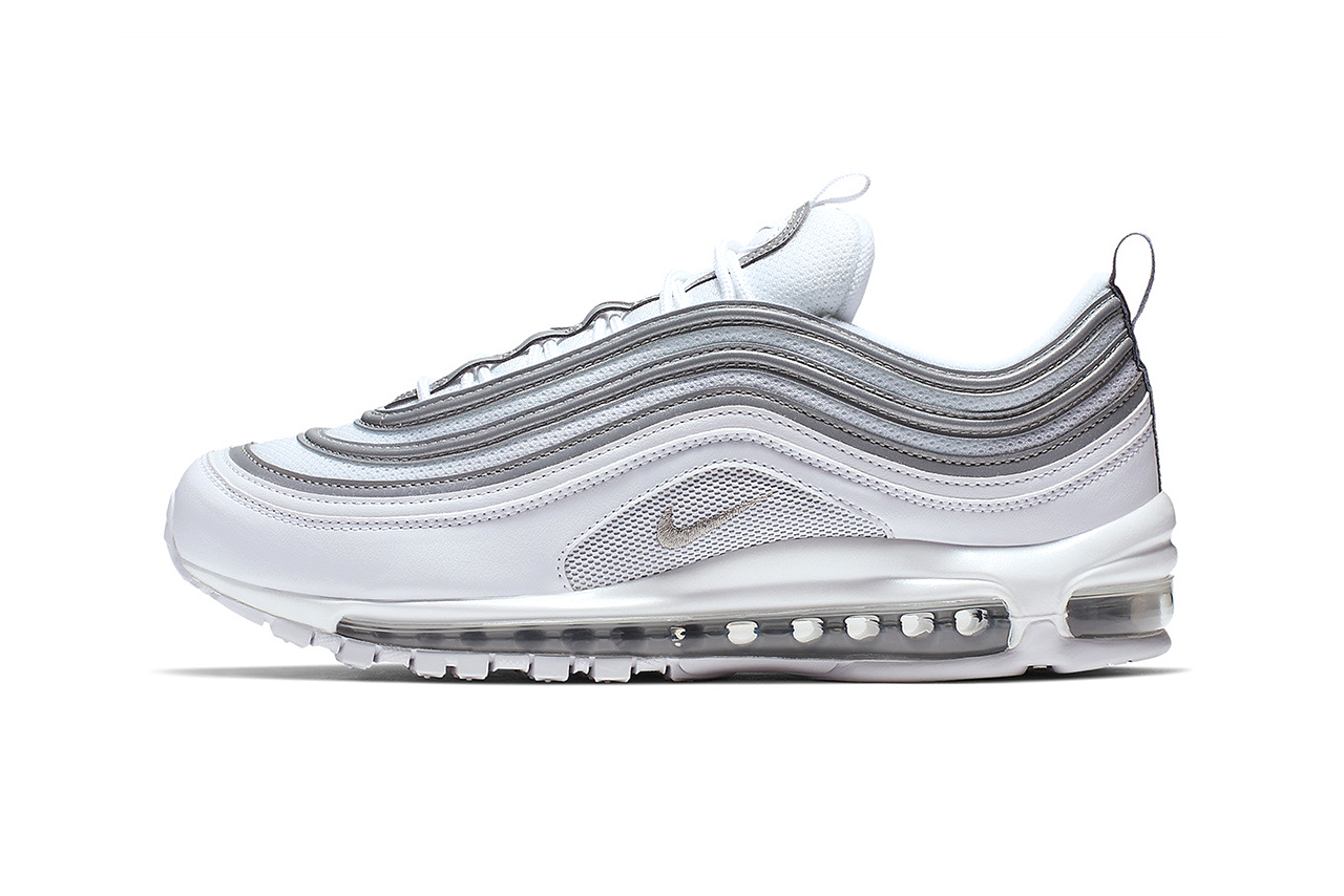 Nike Air Max 97 silver white grey bullet release date details first look classic colorway