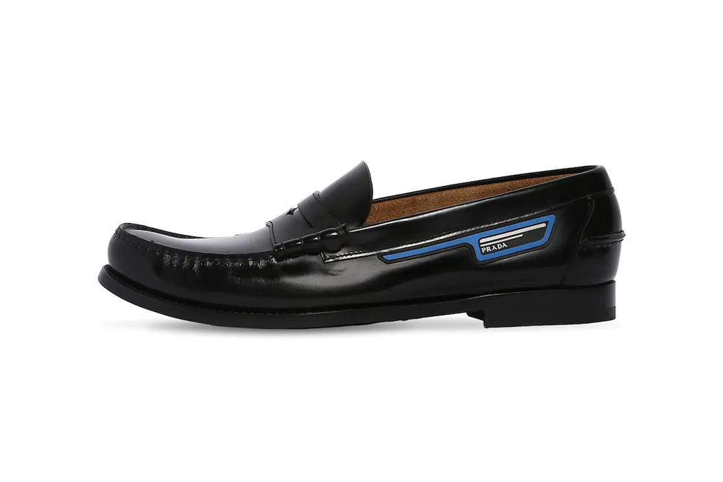 Prada Leather Penny Loafers