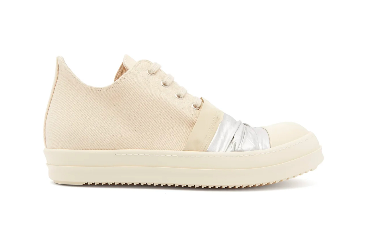 Rick Owens DRKSHDW Duck Tape Ramones Low Top Release Cream White