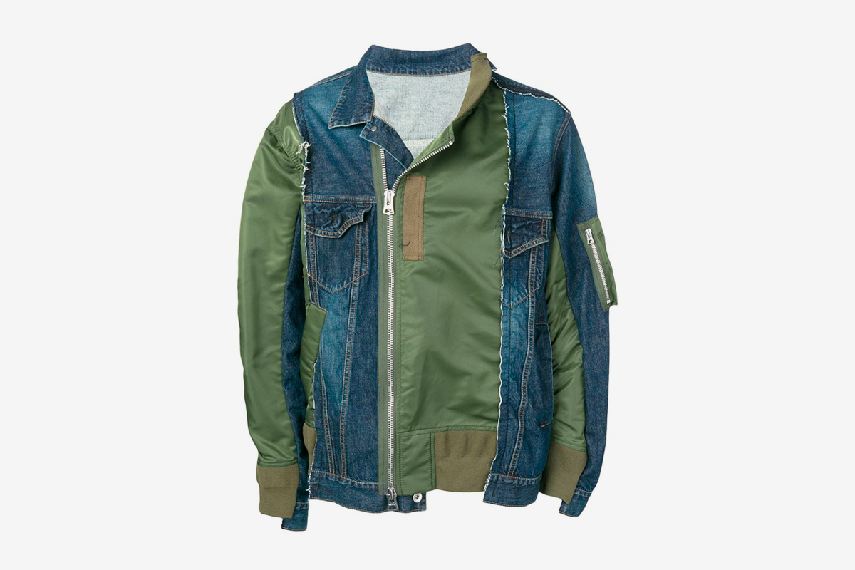 sacai Contrast Bomber Jacket Release Info Date Green Denim Chitose Abe Spring Summmer 2019