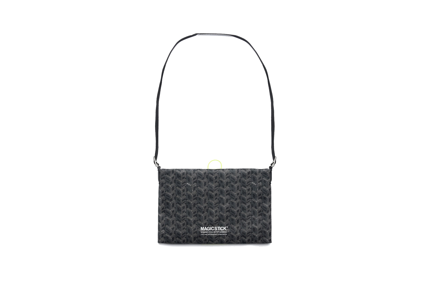 Magic Stick Luxe Sacoche With Goyard Parody Pattern
