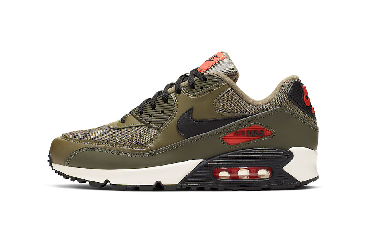 3b56e1daa31 nike air max 90 essential sneakers khaki green undefeated colorway