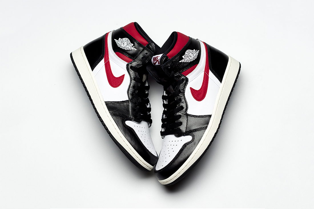 air jordan 1 retro high og 2019 june footwear jordan brand black white sail gym red