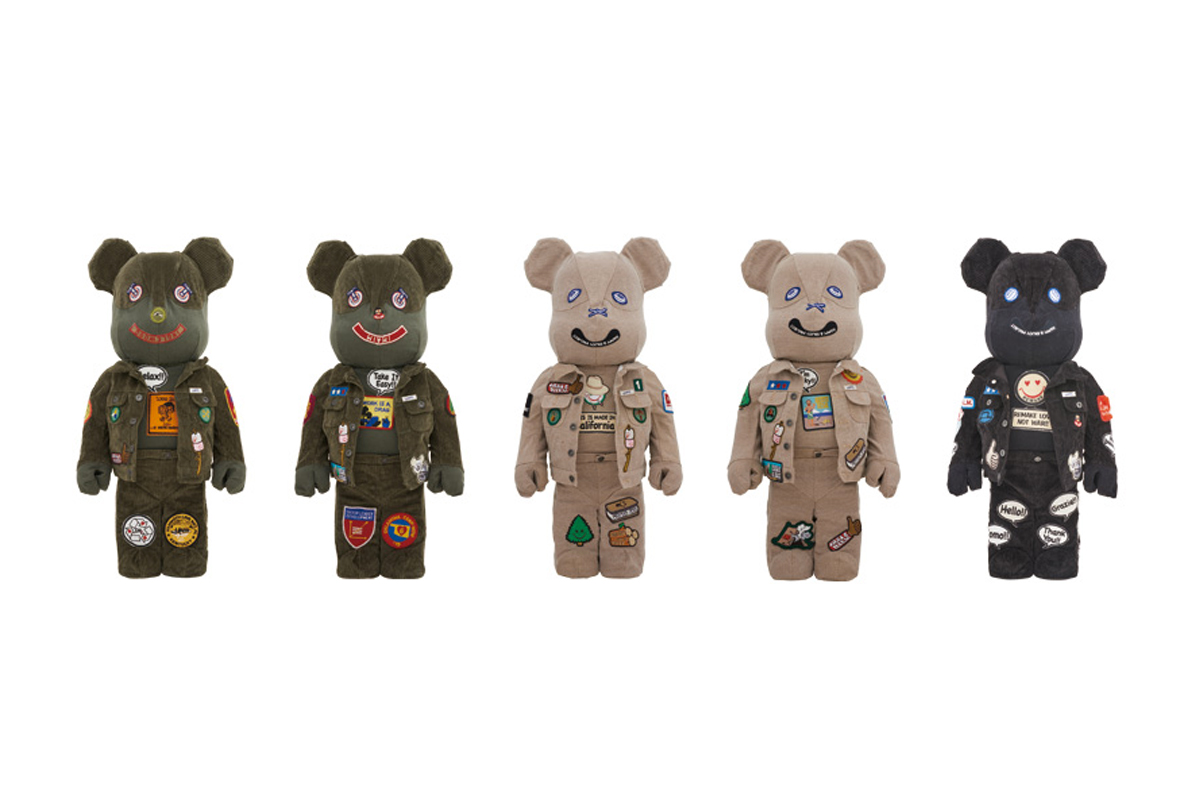 DRx Romanelli x Guess Jeans USA x ALM x Medicom Toy BE@RBRICKS bearbrick bearbicks release info pricing 1000% one-of-a-kind medicom toy plus drop date info