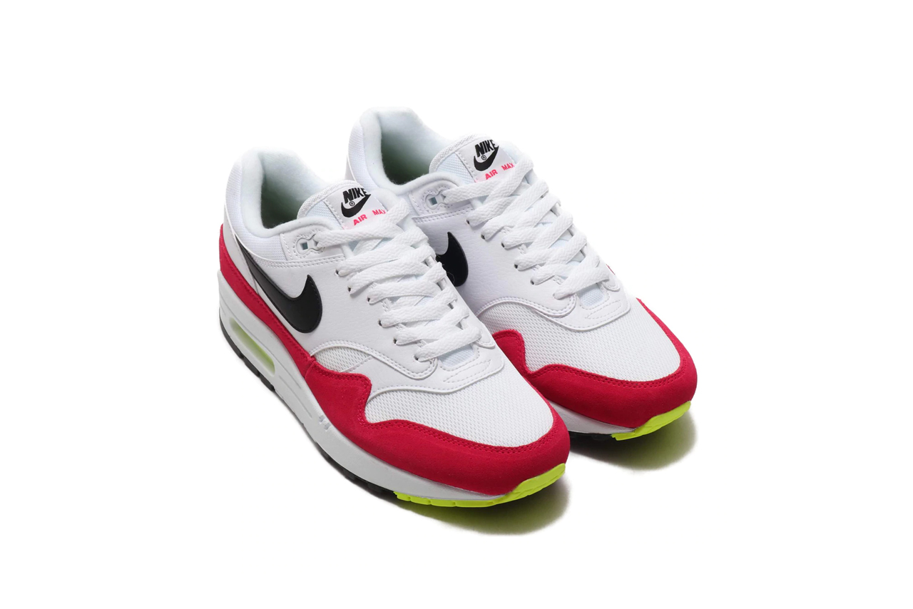 competitive price 0bb86 ca67c Nike Air Max 1 White Black-Volt-Rush Pink   HYPEBEAST DROPS
