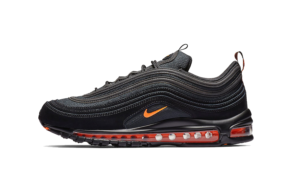 fdf43a232a nike air max 97 black hyper crimson 2019 sportswear footwear CD1531 001  orange 3m reflective