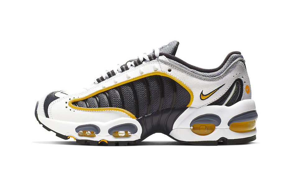quite nice 00be0 01c81 Nike Air Max Tailwind 4 Navy Gold Release Info BQ9810-001 Grey