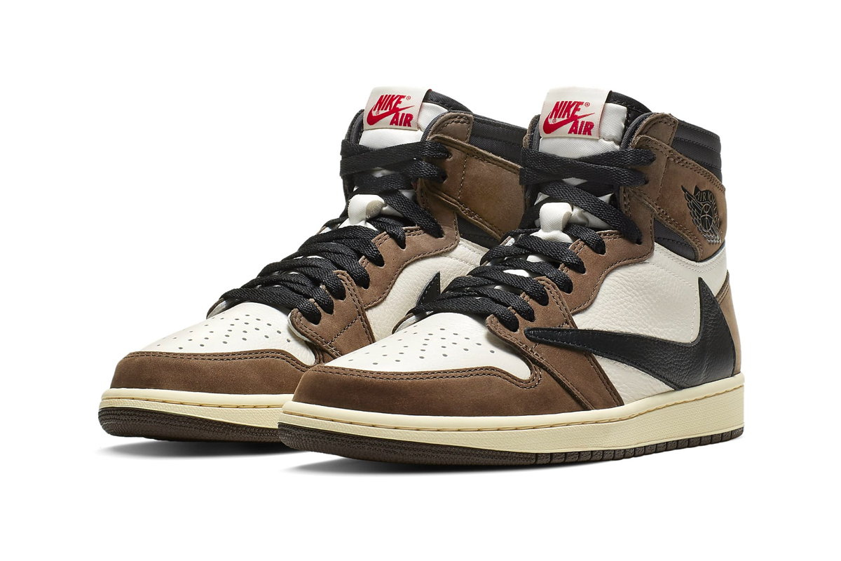Travis Scott Jordan 1 Cactus Jack Re Release 2019 Sail Dark Mocha University Red Black CD4487-100