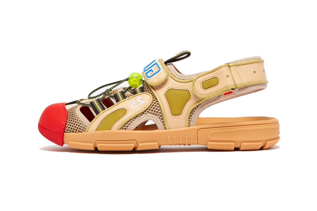 311fb5991 Gucci Leather and Mesh Sandals Release Info | HYPEBEAST