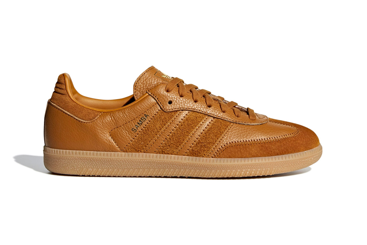 3860dc8082ae adidas Originals Decks Its Samba OG in Rich