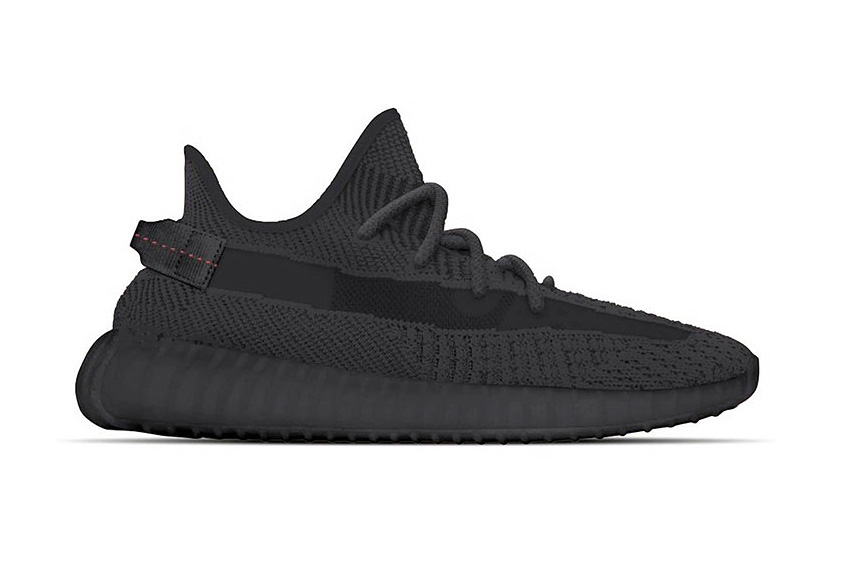 adidas YEEZY BOOST 350 V2 All-Black Release three stripes kanye west