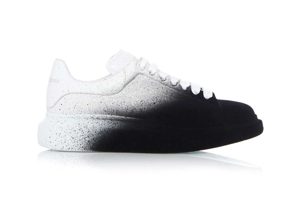 Alexander McQueen Two-Tone Leather Low