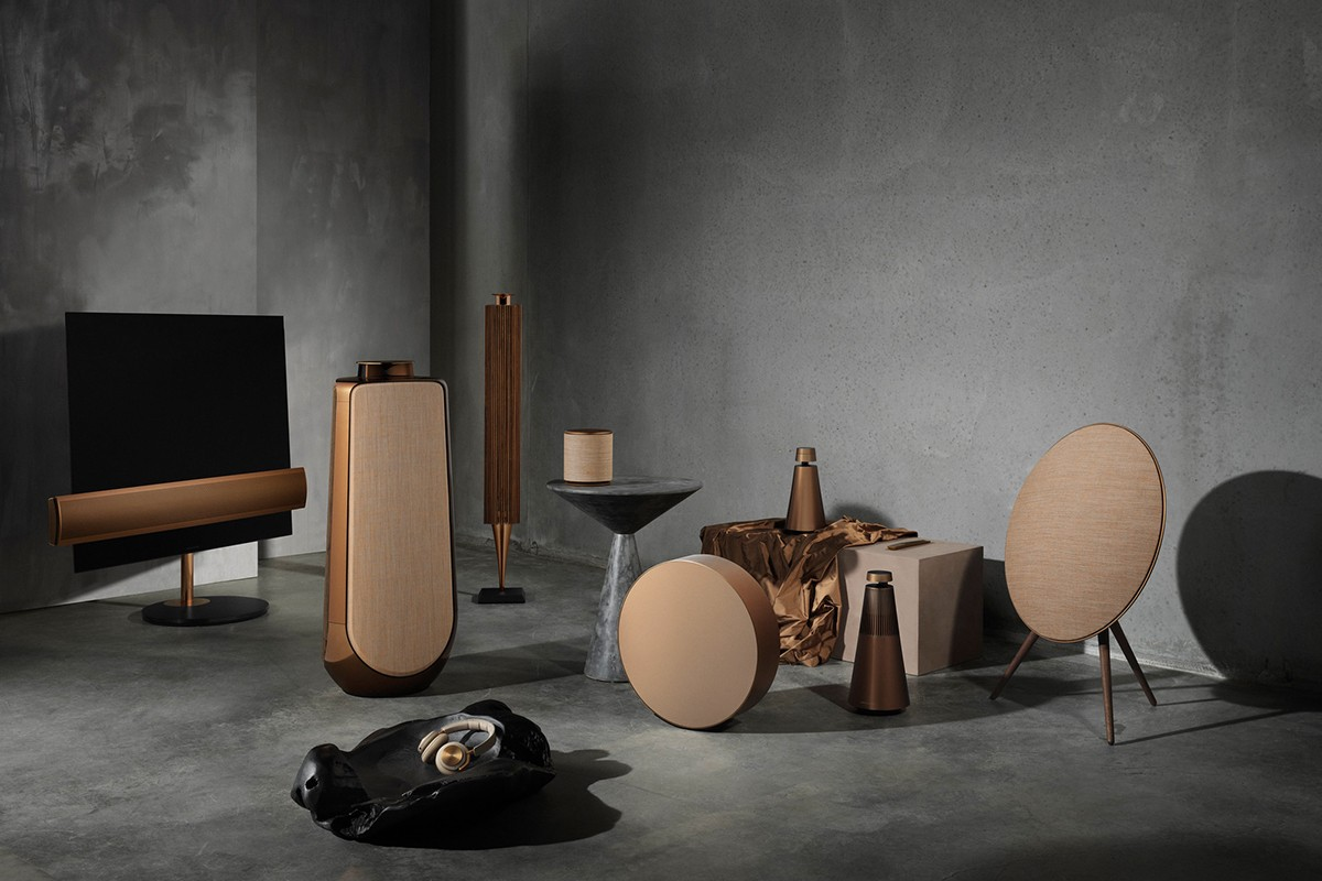 Bang & Olufsen Bronze Collection Release Beoplay beosound milan design tech music audio equipment luxury hi-fi