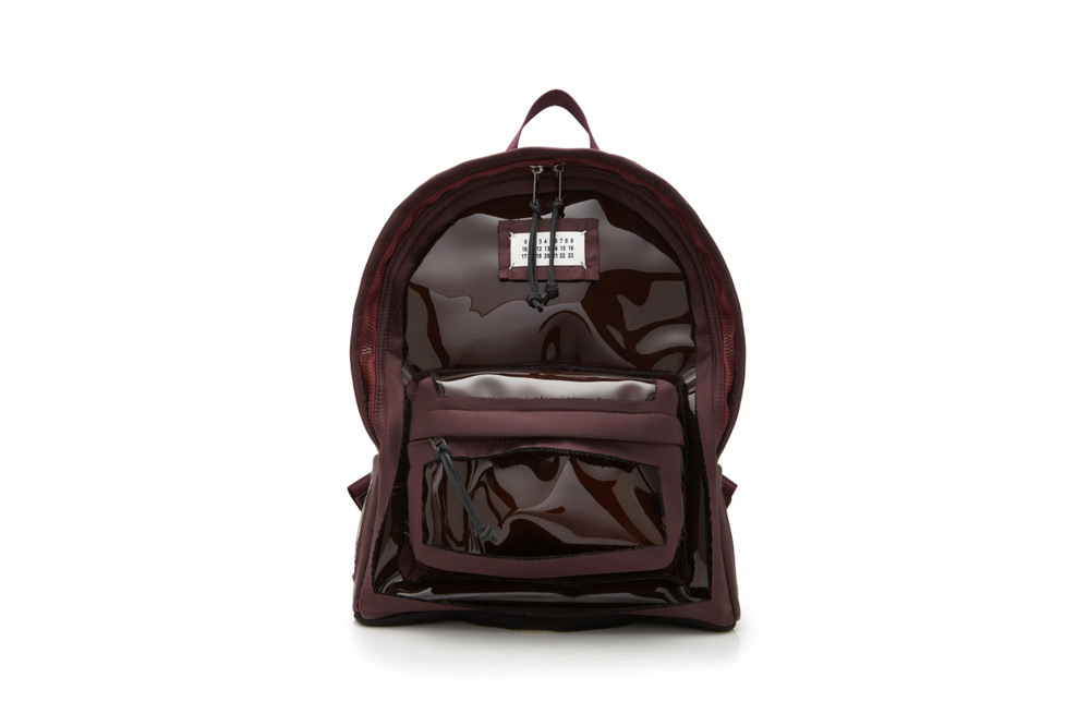 Maison Margiela Canvas-Trimmed PVC Backpack