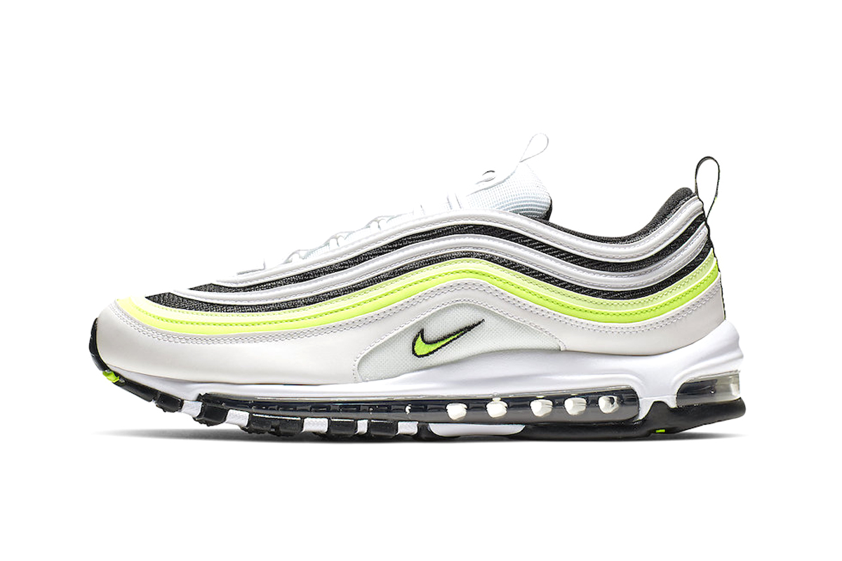 The Nike Air Max 97 White Volt Colorway Info sneakers shoes