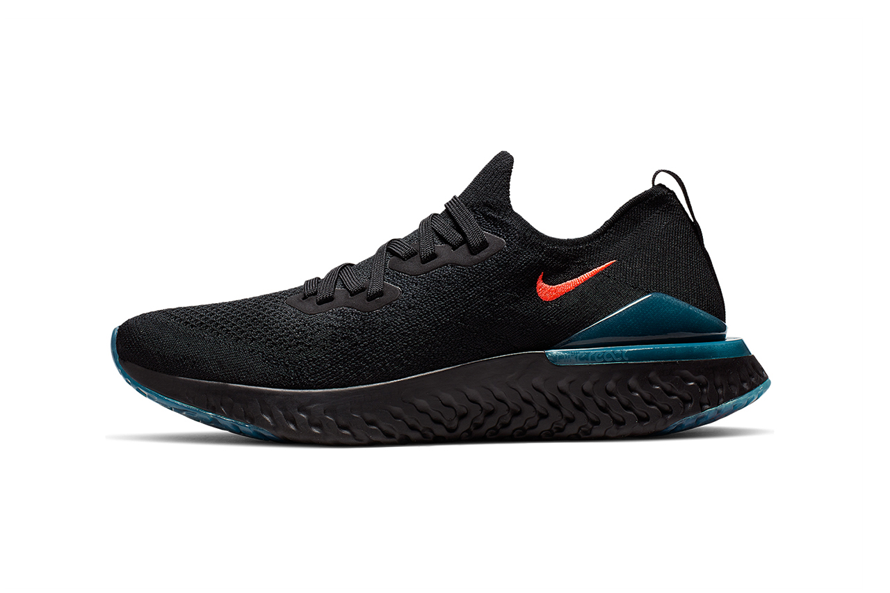"Nike Epic React Flyknit 2 ""Blue Fury"" Release nike running Bright Crimson black"