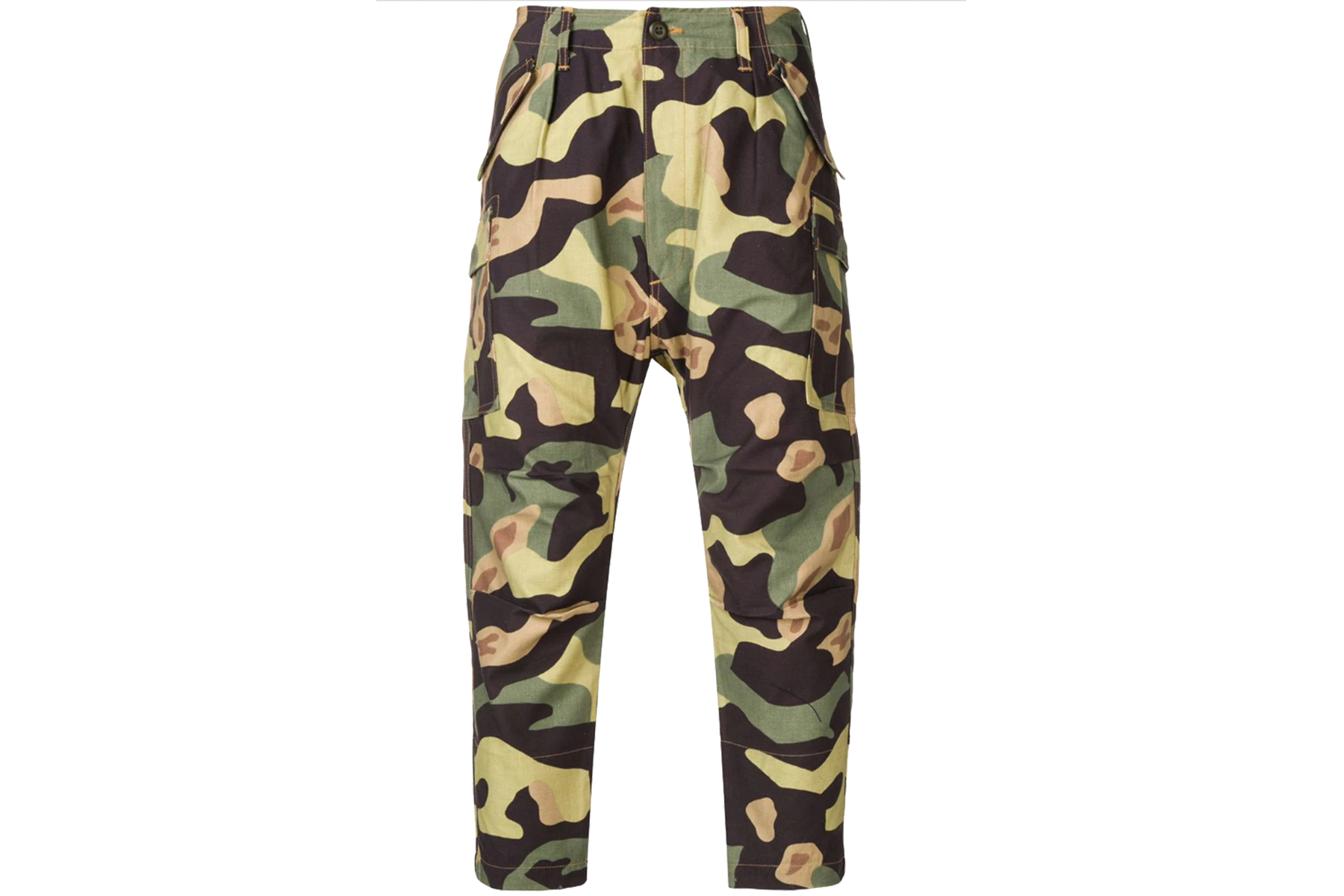 Junya Watanabe Camouflage Cotton Tapered Pants