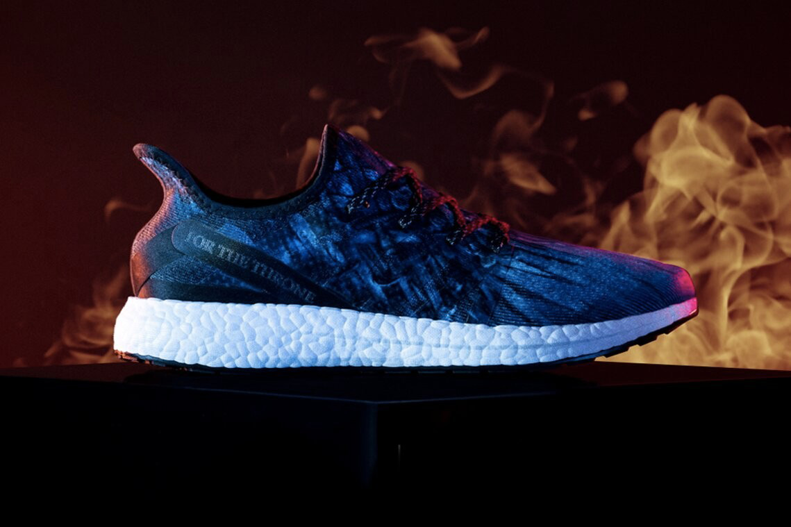 Game of Thrones x adidas SPEEDFACTORY AM4 Release AM4GOT sneakers hbo black 3d printed blue iron throne winter is coming