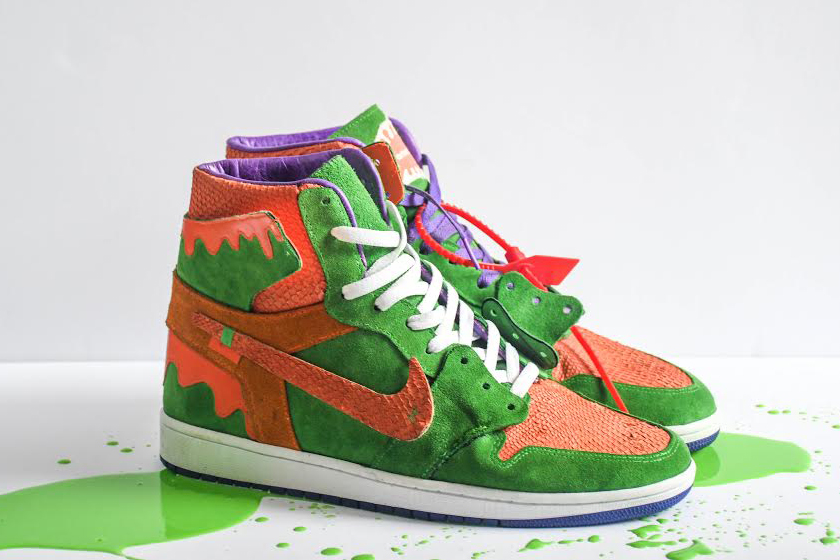 9b71415f82b AMAC Customs Unveils Nickelodeon Slime-Inspired Air Jordan 1 High ...