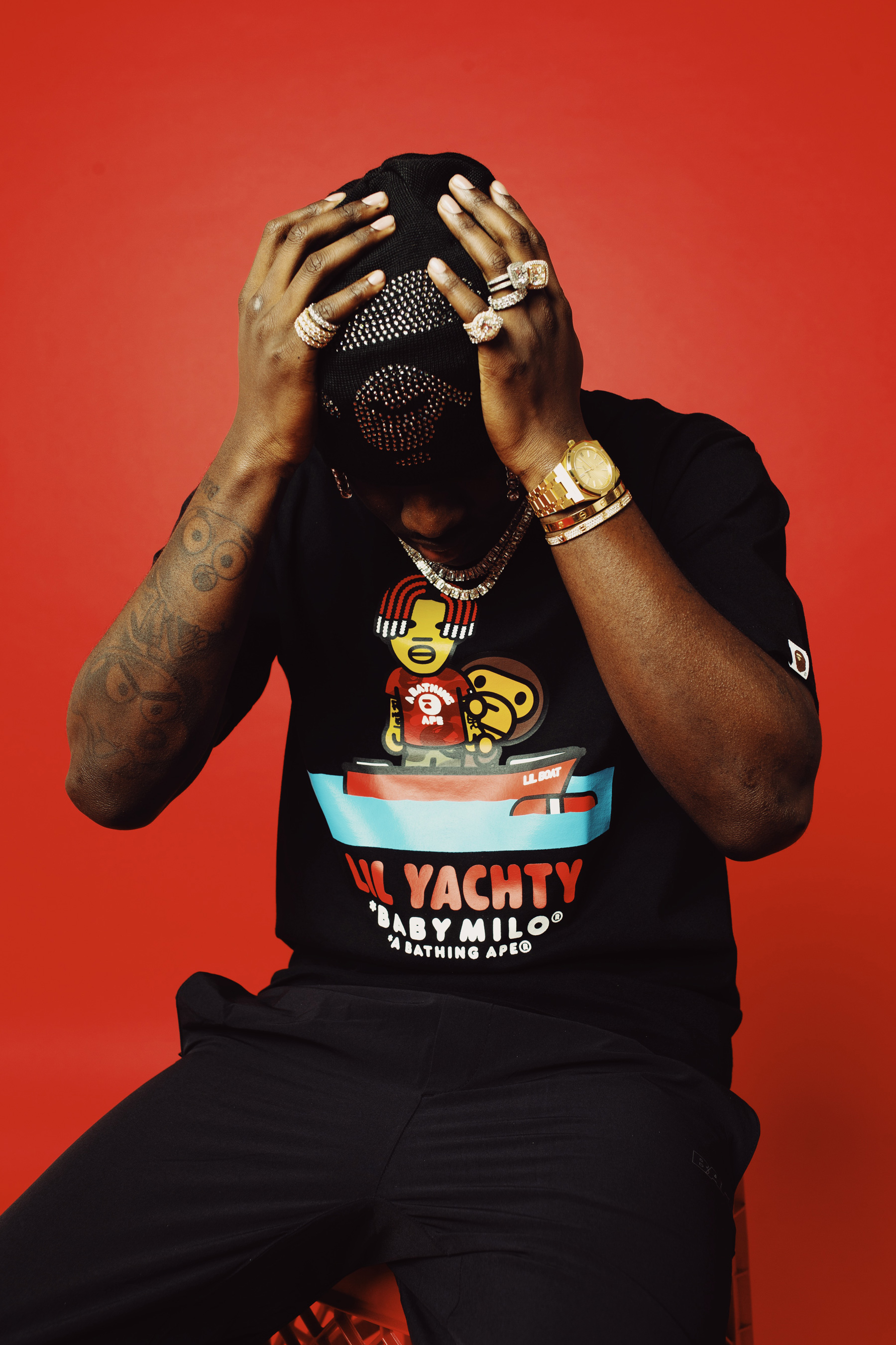Lil Yachty x BAPE SS19 Collection a bathing ape spring summer 2019 lookbooks bape heads show concerts mankey baby milo