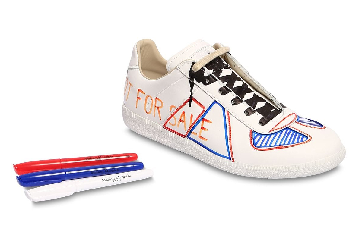 Maison Margiela Marker Replica Sneakers Release Red Blue White Blackk
