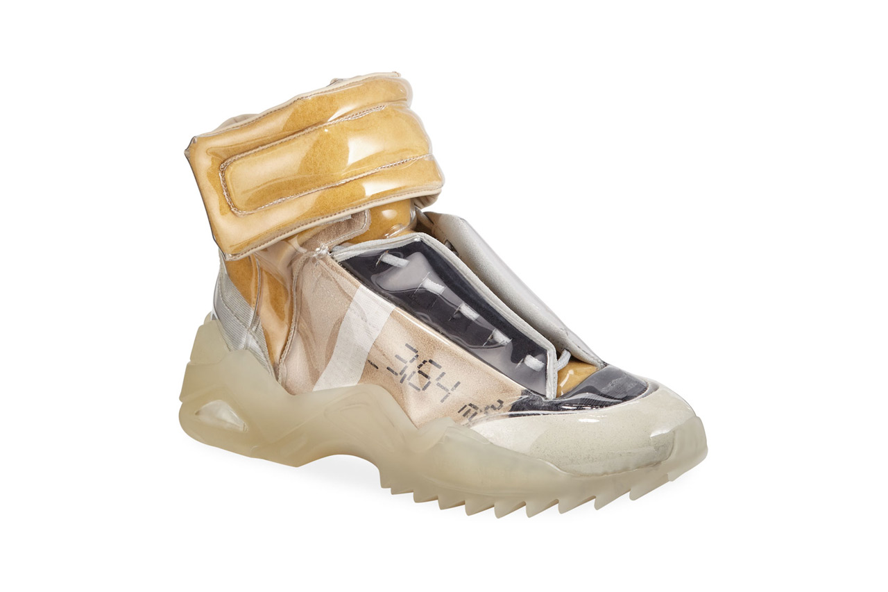 maison margiela new future laminated high top sneakers hightops