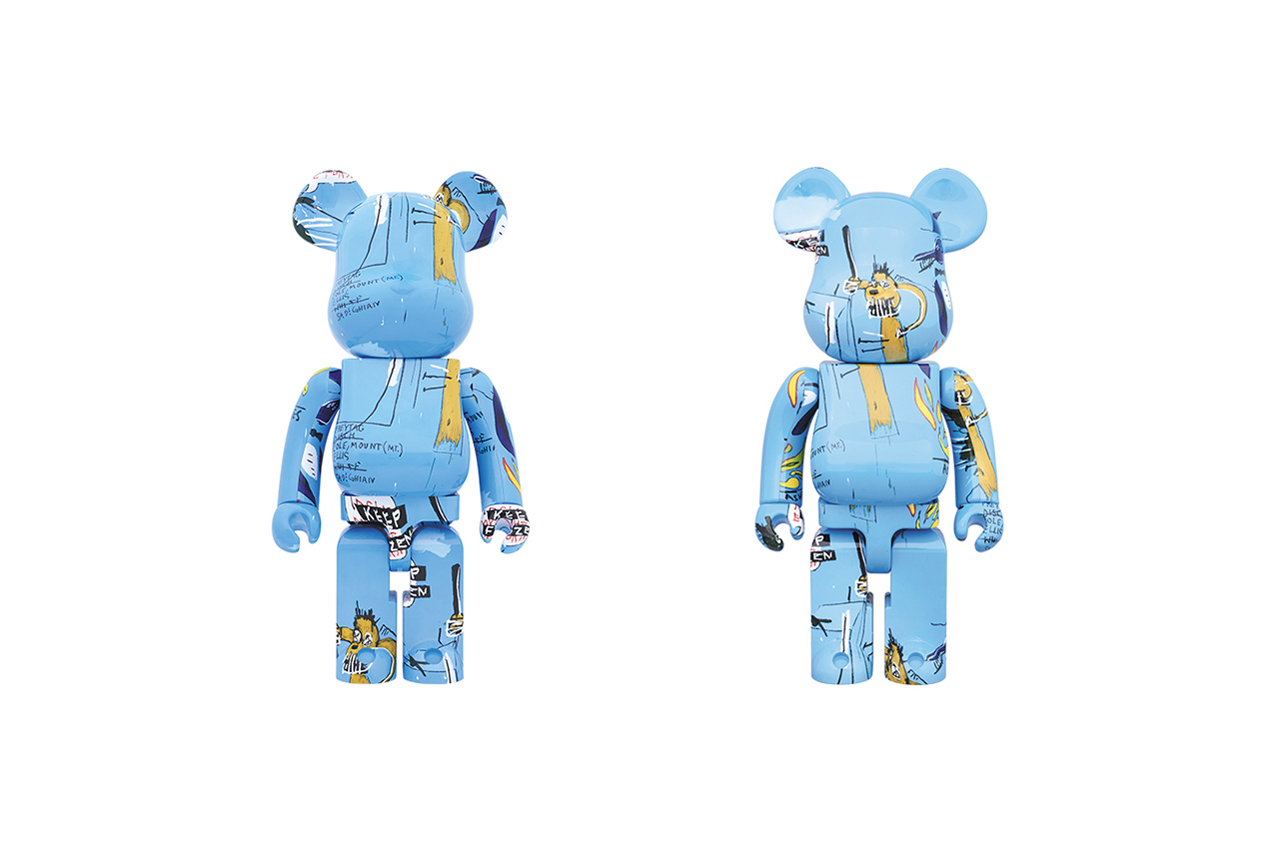 Medicom Toy BE@RBRICK Jean-Michel Basquiat #4 100% & 400% blue painting new york vinyl figure collectible The Dingoes That Park Their Brains With Their Gum