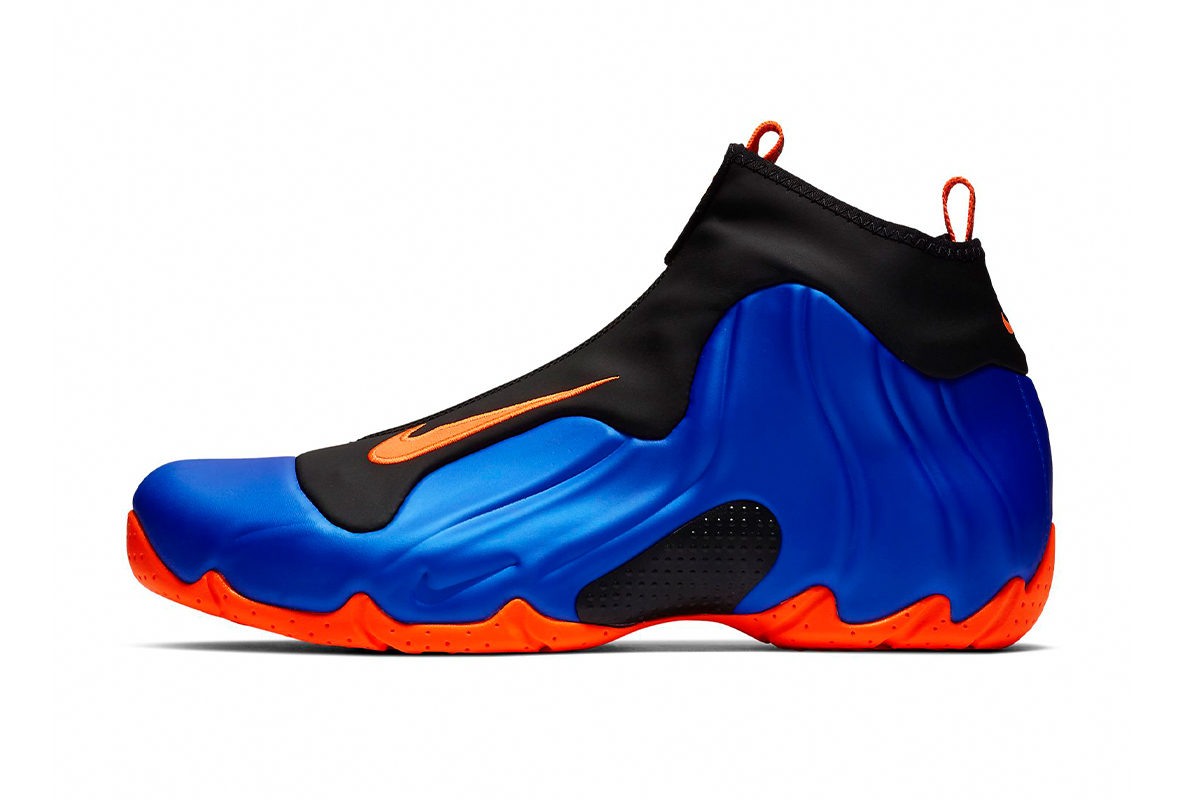 Nike Air Flightposite new york Knicks Theme Release Info nba national basketball association Allan Houston AO9378-401 Racer Blue Black Total Orange