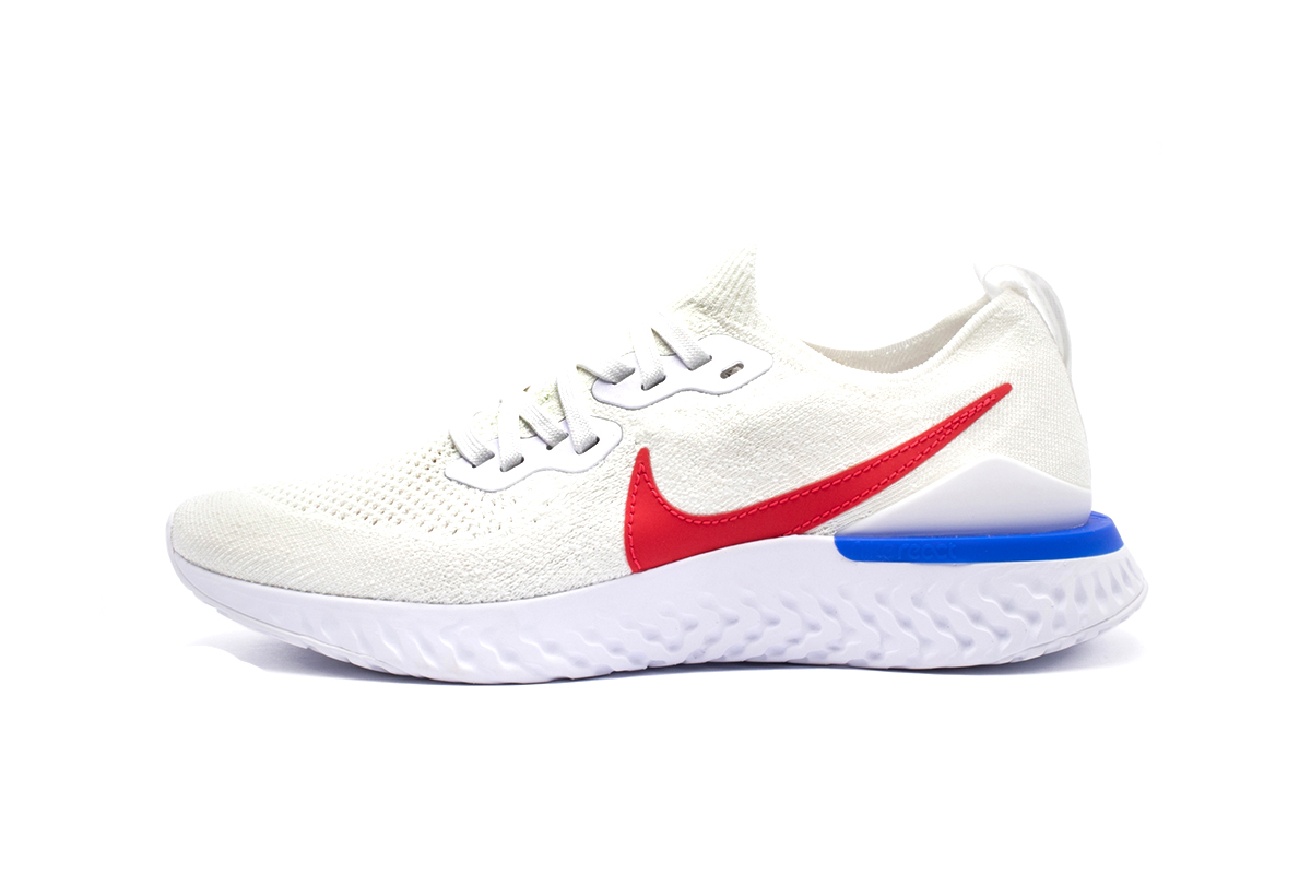 Nike Epic React Flyknit 2 Cortez Release Info CJ8295-100 WHITE VARSITY RED rOYAL