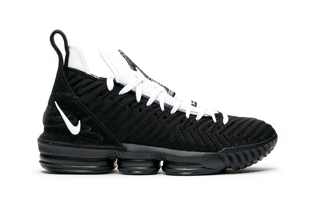 nike basketball lebron xvi 16 four horsemen release black white colorway 2019 lebron james maverick carter rich paul randy mims Ci7862-001