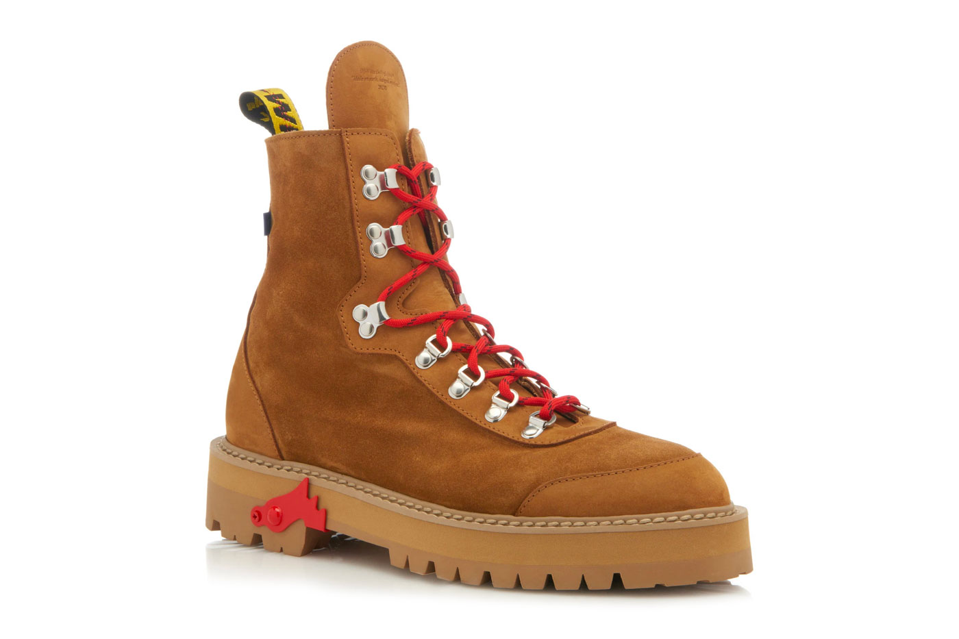 7d3002b64f8ee Off-White™ Brown Suede Hiking Boots Release Date   HYPEBEAST DROPS