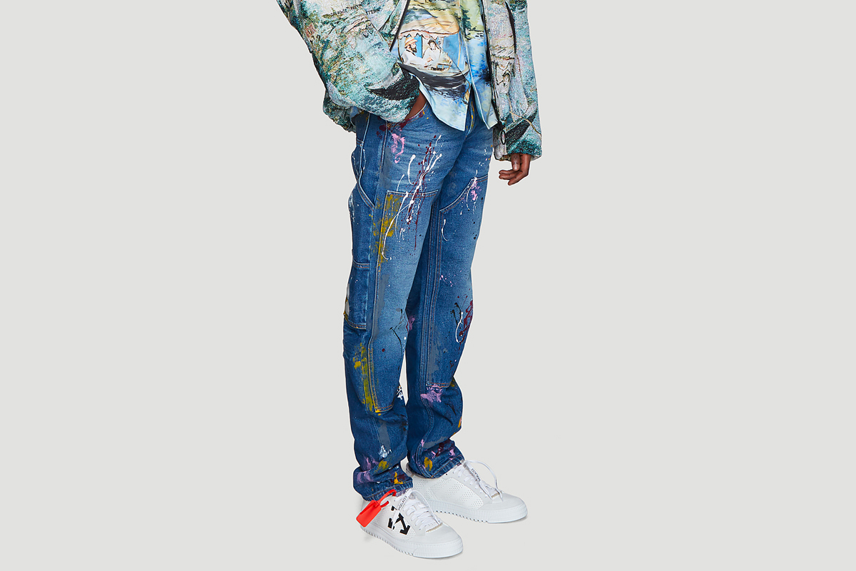 Off-White™ Carpenter Splatter Jeans