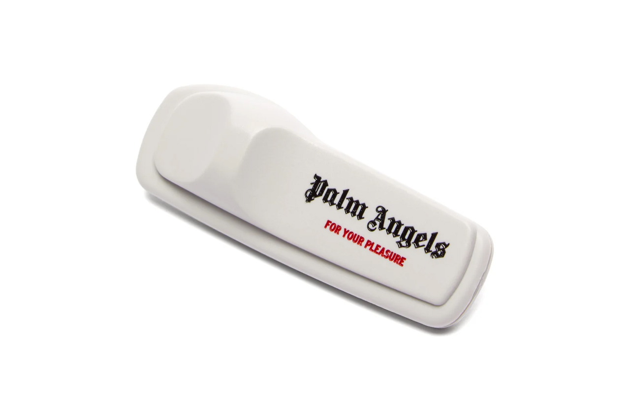 "Palm Angels Anti-Theft Pin Release Info drop price date info matchesfashion.com AW19 runway show F/W19 clothing security tag ""For Your Pleasure"" accessory"