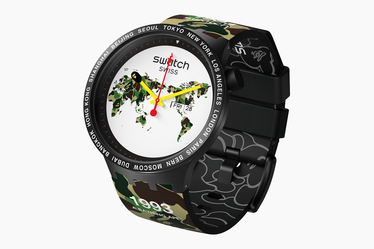 BAPE x Swatch Big Bold City Watches
