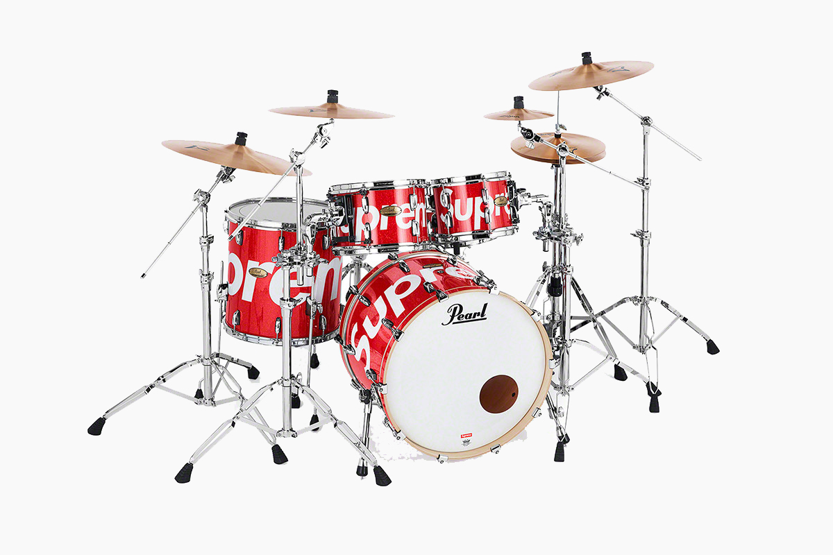 Supreme x Pearl Drum Kit