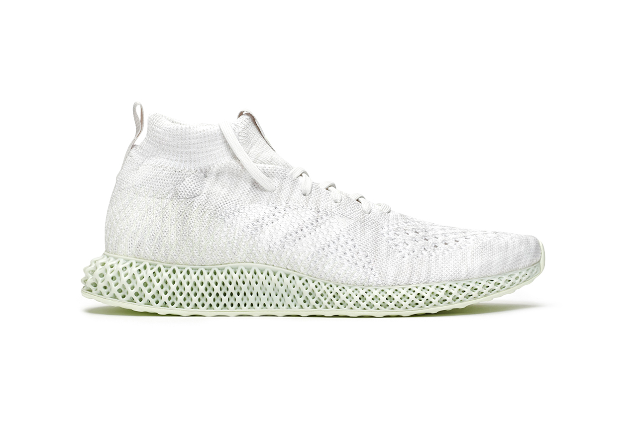 "adidas Consortium Runner Mid 4D ""White"" Limited Edition Sneaker Drop Information Cop Now Release Light Oxygen Sole Unit Technology Futurecraft Primeknit Upper Continental Outsole Three Stripes"