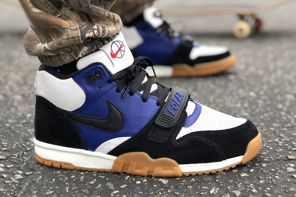 Polar Skate Co Nike SB Air Trainer 1 First Look eric koston blue white black gum