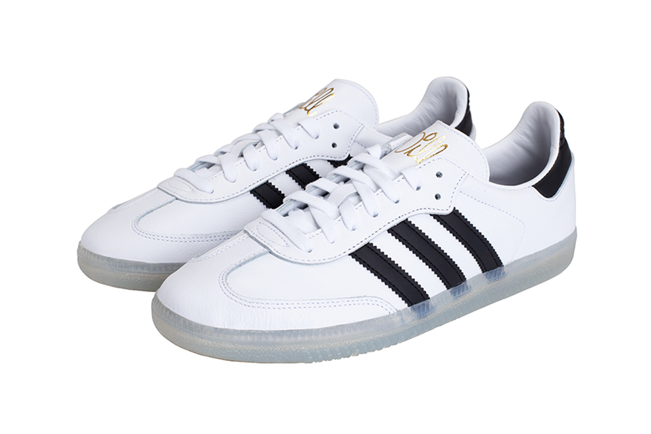 Jason Dill adidas Samba Official Look fucking awesome skateboarding shoe release info official look pictures black/white translucent sole